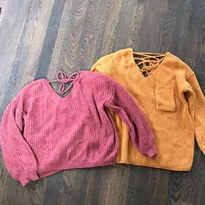 Two Zaful Sweaters